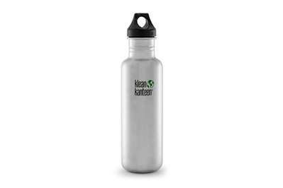 Klean Kanteen Classic Stainless Steel Bottle 27-Ounce with Loop Cap