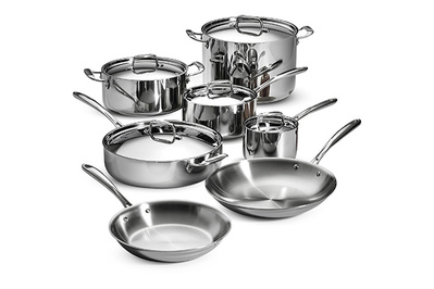 Tramontina 12-Piece Tri-Ply Clad Cookware Set