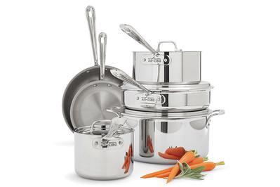 All-Clad Tri-Ply Stainless Steel 10-Piece Set