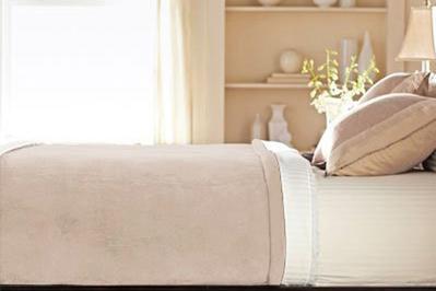 Sunbeam Velvet Plush Heated Blanket
