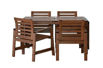 IKEA Äpplarö Table and 4 Armchairs