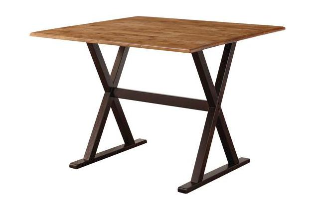 Target 40″ Threshold Square Drop Leaf Rustic Dining Table